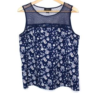 Jason Wu for Target | Navy Floral and Lace Top